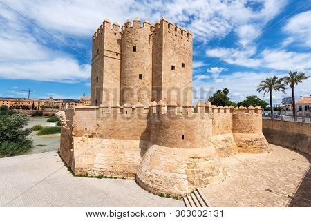 Cordoba Calahorra Tower. Fortress Of Islamic Origin Conceived As An Entrance And Protection Roman Br