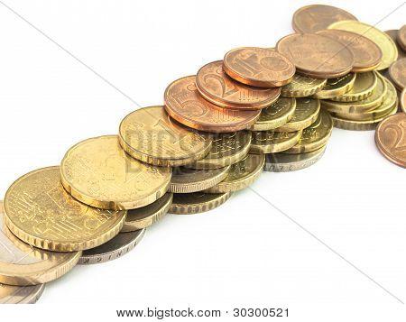 Iisolated Coins Euro