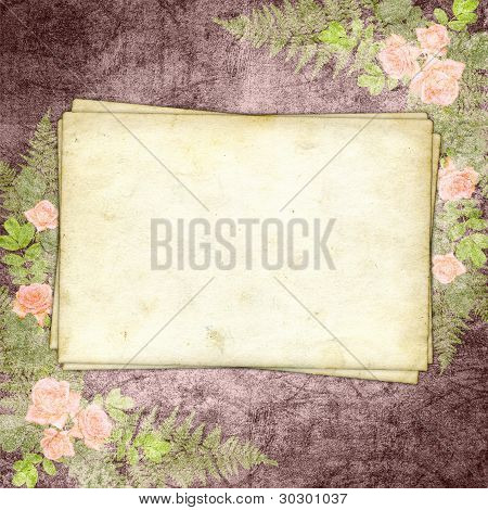 ?ards For Greeting Or Invitation On The Vintage Background.