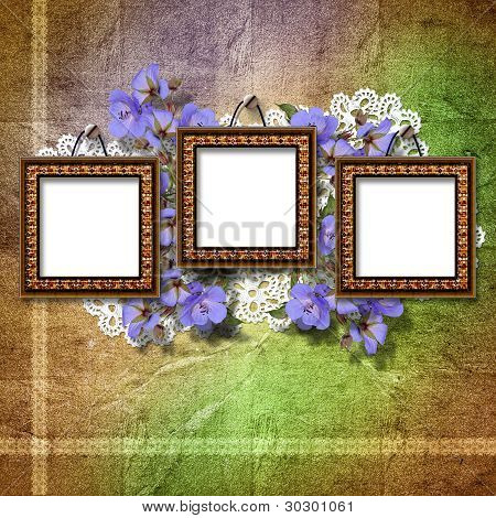 Vintage Framework For Invitation Or Congratulation.