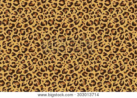 Leopard Seamless Print. Cheetah Jaguar Exotic Animal Skin Pattern, Luxury Fashion Wallpaper. Vector
