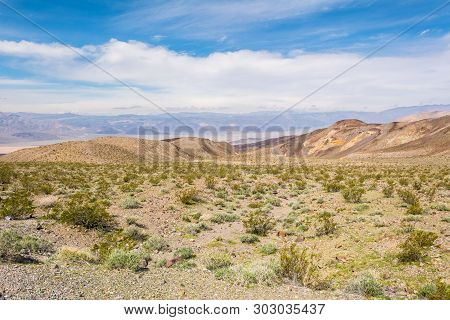 The Landscape Seen From The Panamin Valley Road In Death Valley National Park. California. Usa