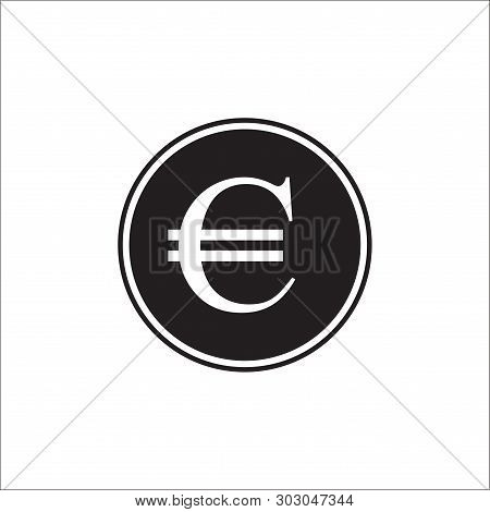 Euro Curency, Euro Icon In Trendy Flat Style Isolated On Grey Background. Euro Symbol For Your Web S