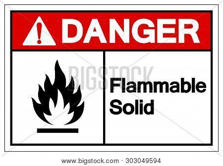 Danger Flammable Solid Symbol Sign ,vector Illustration, Isolate On White Background Label .eps10