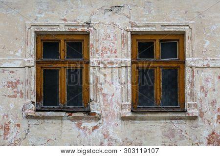 Windows Of A House In Cicmany Village, Slovakia.