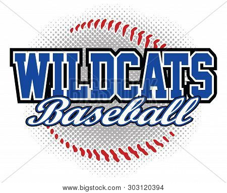 Wildcats Baseball Design Is A Wildcats Mascot Design Template That Includes Team Text And A Stylized