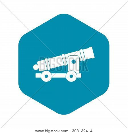 Cannon Icon. Simple Illustration Of Cannon Vector Icon For Web
