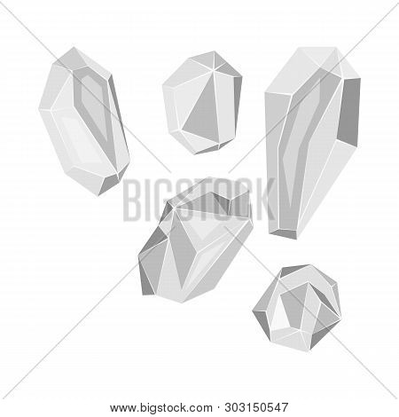 Vector Design Of Granules And Salty Icon. Collection Of Granules And Grains  Stock Symbol For Web.