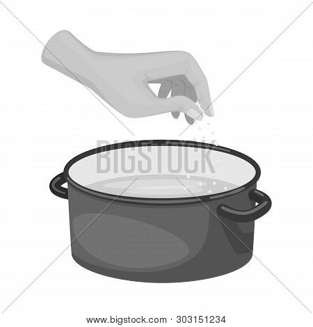 Vector Design Of Casserole And Water Logo. Collection Of Casserole And Arm Vector Icon For Stock.