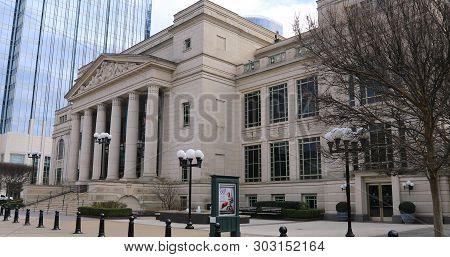 Nashville,tennessee/united States - January 10: Schermerhorn Symphony Center In Nashville, Tn. Opene