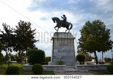 Kavala, Greece - August 21, 2017: Muhammad Ali Of Egypt, Statue In Kavala, Greece.
