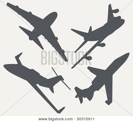 Jet Plane Silhouettes