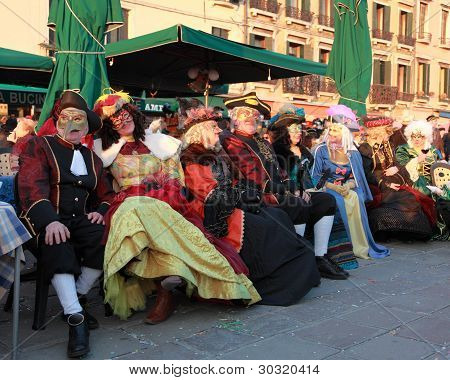 Group Of Disguised People