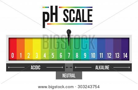 Creative Illustration Of Ph Scale Value Isolated On Background. Chemical Art Design Infographic. Abs