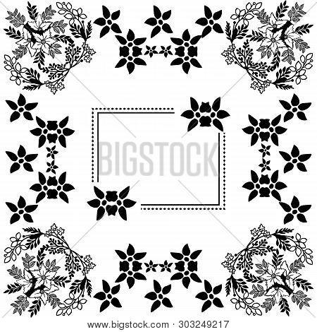 Vector Illustration Blossom Flower Frame For Invitation Card