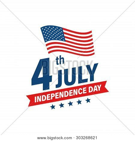 Usa Independence Day 4th Of July Holiday. United States Of America Flag. Happy Independence Day Bann