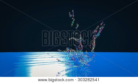 3D Rendering Of  Abstract Splash