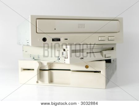 Cd And Two Floppy Units
