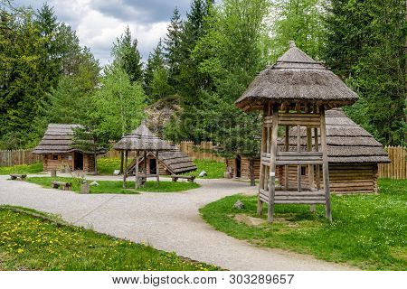 Strecno, Slovakia - May 1: Medieval Village Paseka On May 1, 2019 In Strecno