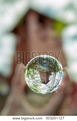 Reflection Of Lookout Spicak In Lensball, Slovaia