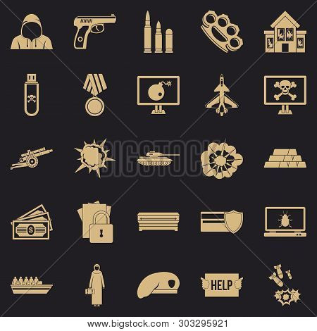 Warfare Icons Set. Simple Set Of 25 Warfare Vector Icons For Web For Any Design