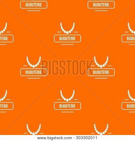 Jewelry Bijouterie Pattern Vector Orange For Any Web Design Best