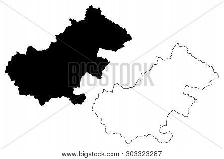 Satu Mare County (administrative Divisions Of Romania, Nord-vest Development Region) Map Vector Illu
