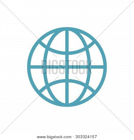 World Globe Icon Isolated On White Background. World Globe Icon In Trendy Design Style. World Globe
