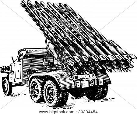 Reactive artillery BM-13