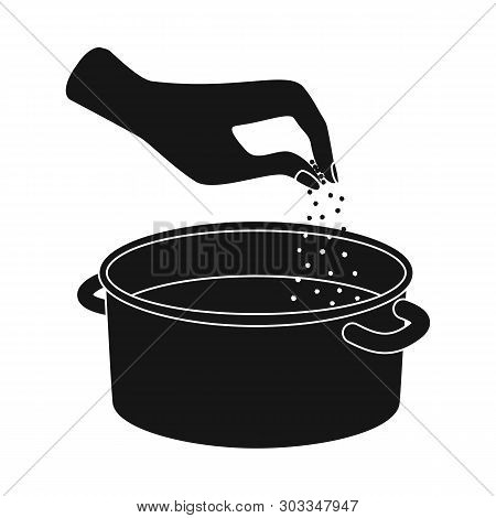Vector Illustration Of Casserole And Water Icon. Collection Of Casserole And Arm Vector Icon For Sto