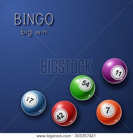 Bingo Lottery Poster Background. Vector Illustration Eps10