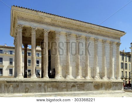 The Antique Maison Carre In Nimes, France