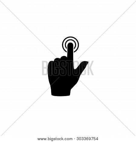Touch Hand, Vector Best Flat Icon On White Background