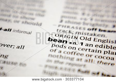 Word Or Phrase Bean In A Dictionary.