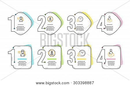 People, Headhunting And Time Management Icons Simple Set. Share Sign. Support Job, Person In Target,