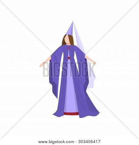 Cute Young Woman In Fairy Tale Magic Clothes