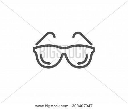 Eyeglasses Line Icon. Oculist Clinic Sign. Optometry Vision Symbol. Quality Design Element. Linear S