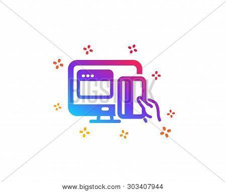 Online Payment Methods Icon. Web Money Sign. Credit Card Symbol. Dynamic Shapes. Gradient Design Onl