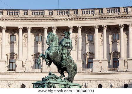 Hofburg Vienna historic building and landmark of capital city poster