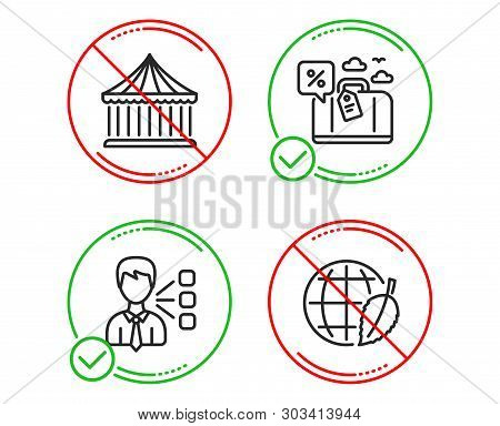 Do Or Stop. Third Party, Carousels And Travel Loan Icons Simple Set. Environment Day Sign. Team Lead