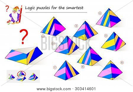 Logic Puzzle Game For Smartest. Need To Find The Correct Detail Which Fell Down From The Pyramid. Pr