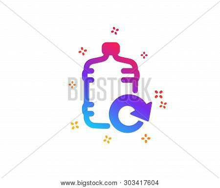 Water Cooler Bottle Icon. Refill Aqua Drink Sign. Liquid Symbol. Dynamic Shapes. Gradient Design Ref