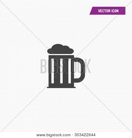 Black Rock, Mug, Beer, Foam Icon. Element Of Rock And Roll Icon. Thin Icon For Website Design And De