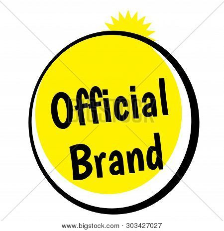 Official Brand Stamp On White Background. Stickers Labels And Stamps Series.
