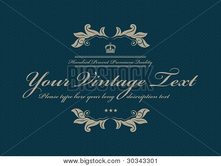 Blue Vintage Dotted Background Pattern