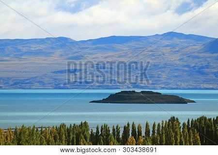 Incredible Argentino Lake Or Lago Argentino View From The Town Of El Calafate, Patagonia, Argentina,