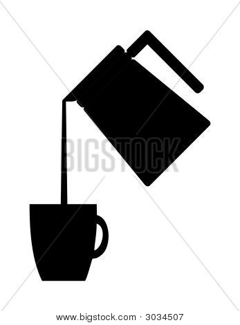 Coffee Pot Pouring Illustration