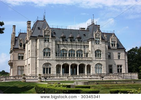 Historic mansion, now Salve Regina University in Newport Rhode Island as seen during an Open House in 2009 poster