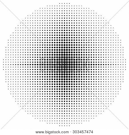 Halftone Element Dots, Circular Halftone Pattern Isolated On White Background. Specks, Abstract Half