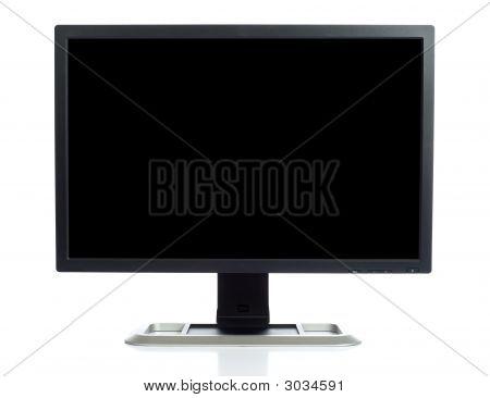 Computer-Bildschirm auf weiß